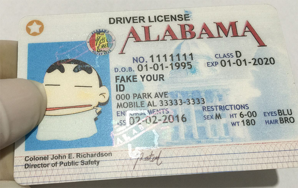 photo about Printable Fake Ids called Alabama Identification