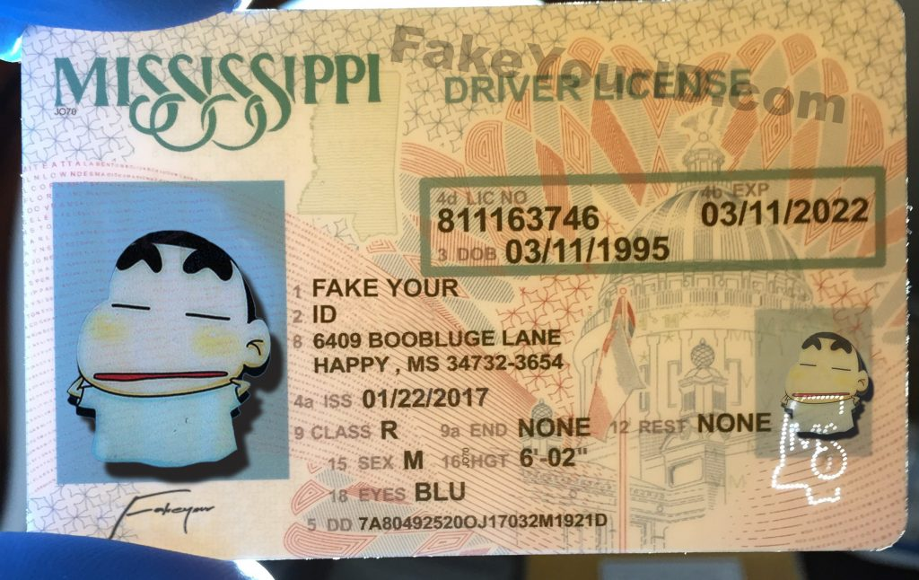 mississippi id - buy premium scannable fake id