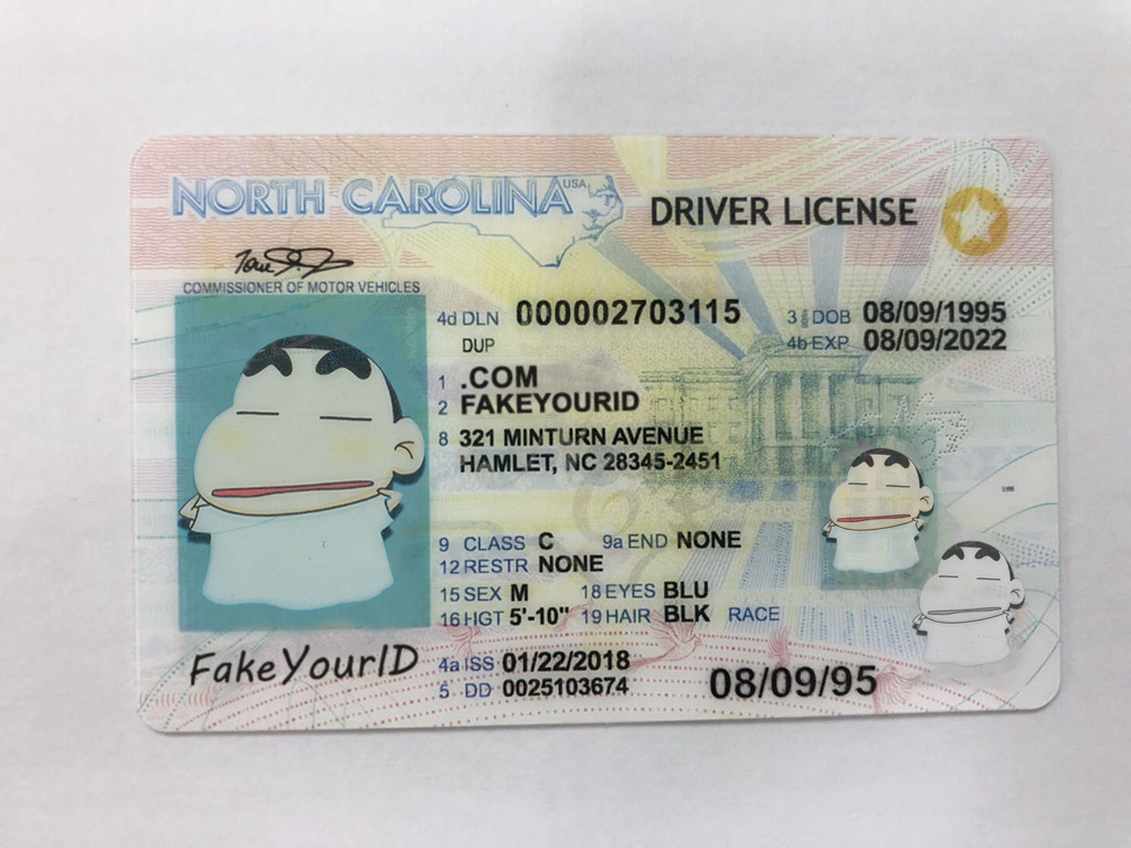 Fake We - Carolina North Id Make Buy Premium Scannable Ids
