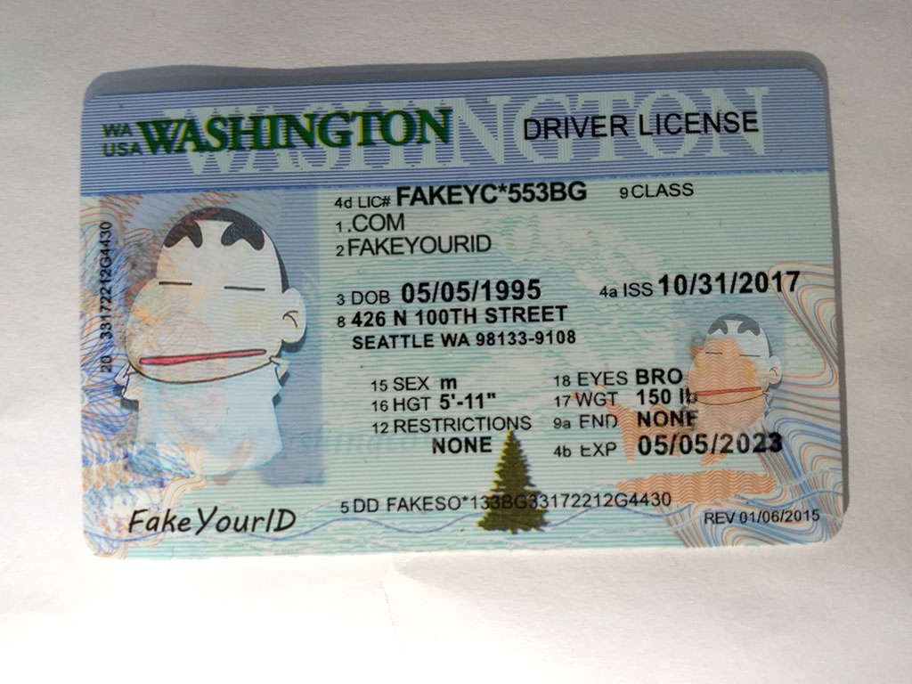 Premium Buy - Ids Make Scannable Washington Fake We Id