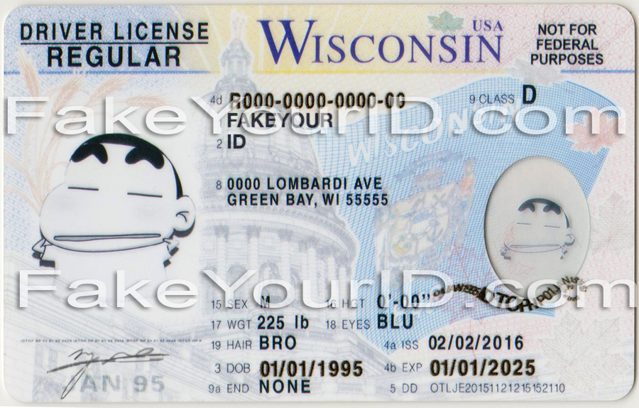 Wisconsin id buy premium scannable fake id we make for Wisconsin drivers license template