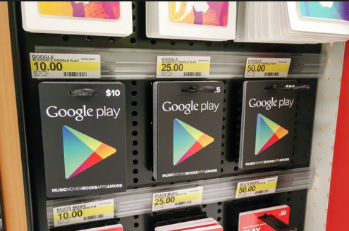 google play physical gift card